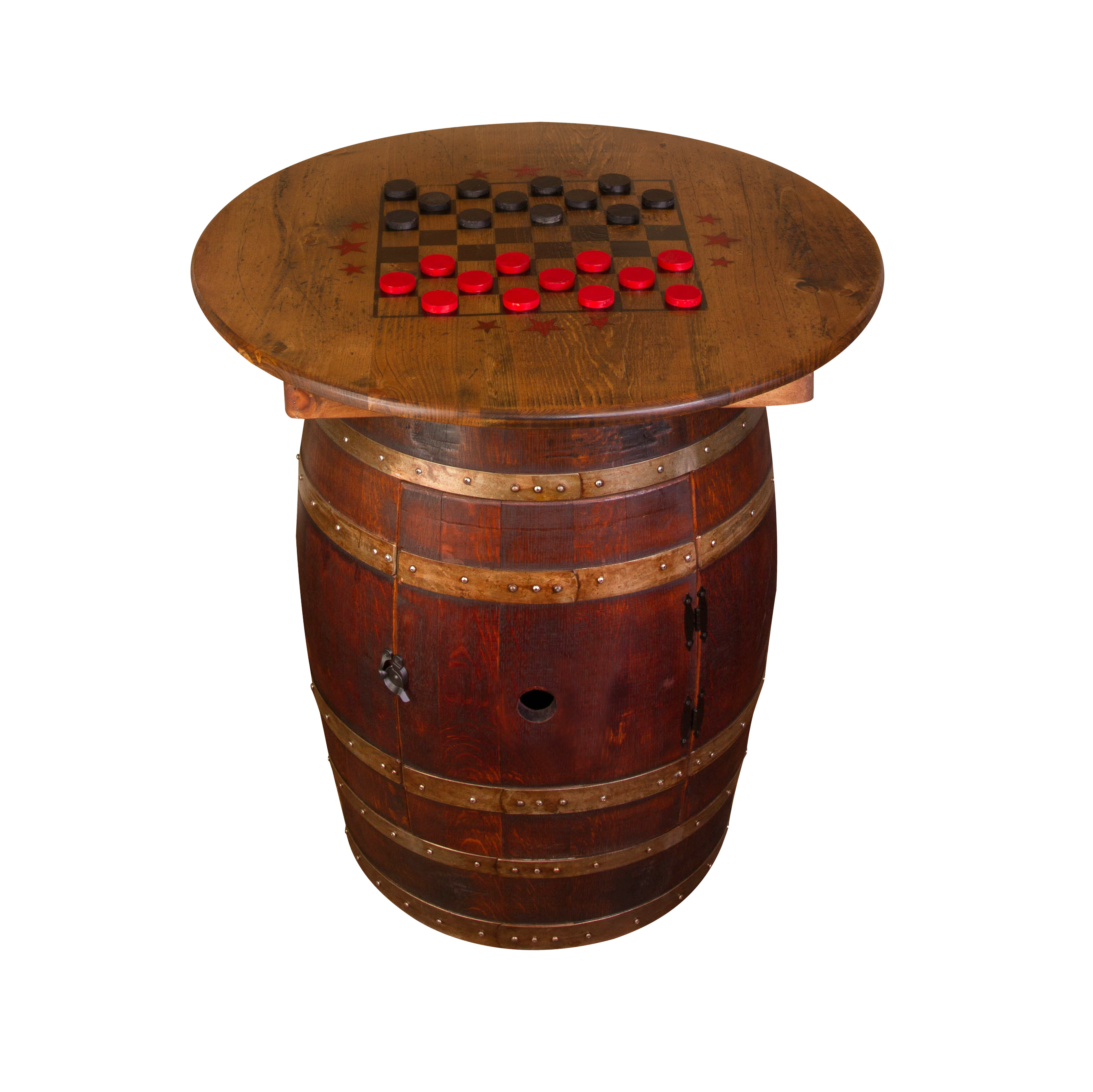 Napa East Collection Whiskey Barrel Pub Table | Wayfair