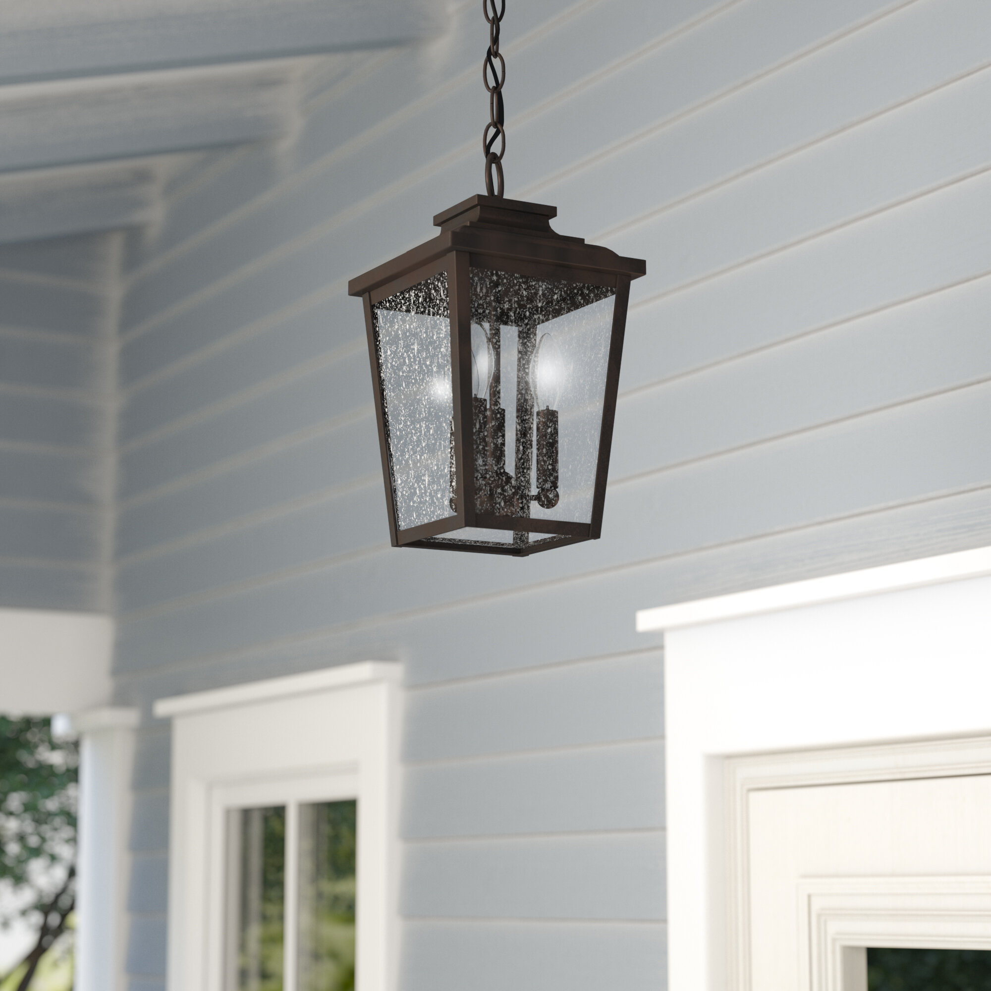 outdoor pendant lighting fixtures hanging mayhugh 3light outdoor hanging lantern lights youll love wayfair