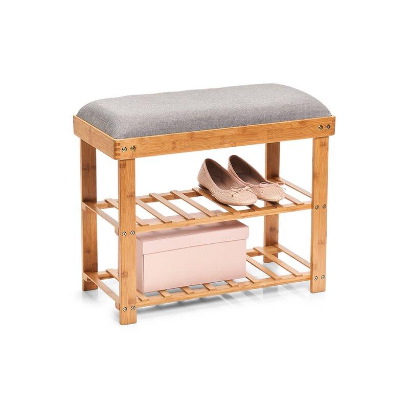 zeller gepolsterte sitzbank aus holz mit stauraum bewertungen. Black Bedroom Furniture Sets. Home Design Ideas