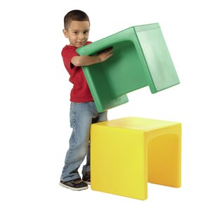 Cube Kids Novelty Chair (Set of 4) by Constructive Playthings