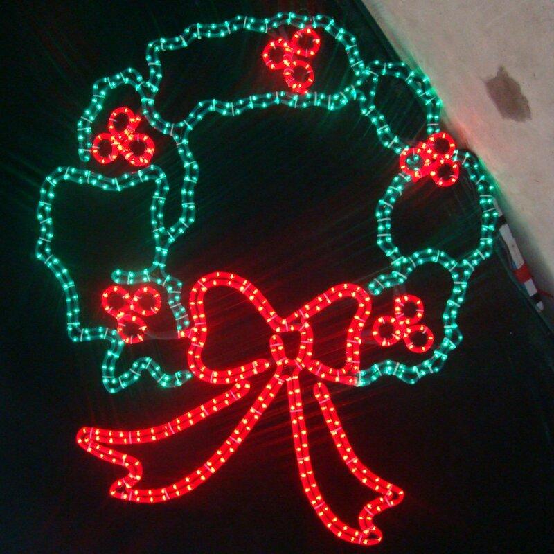 large 44 led christmas wreath lighted display - Led Christmas
