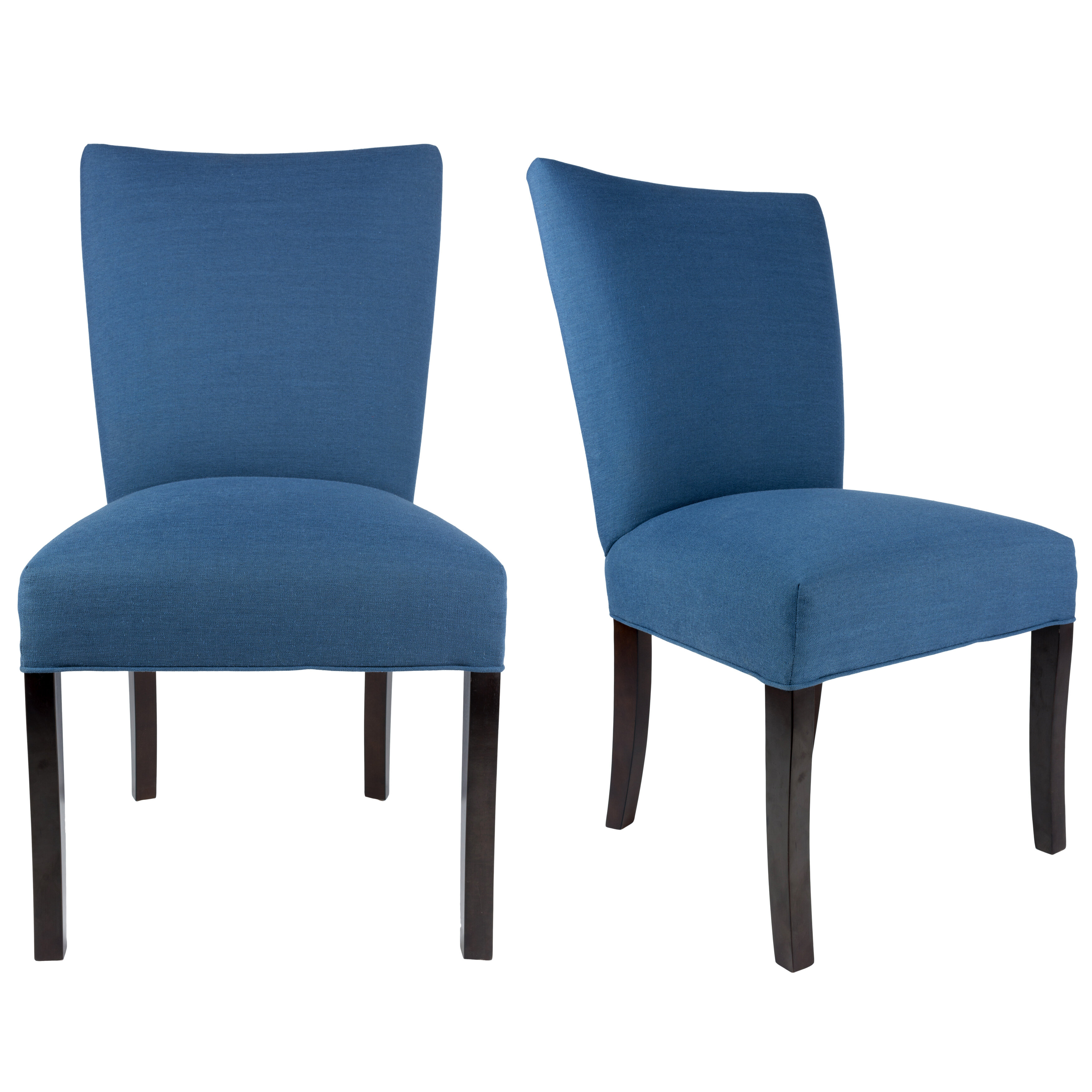 Rosecliff Heights Knowlson Upholstered Parsons Chair in Denim Blue ...