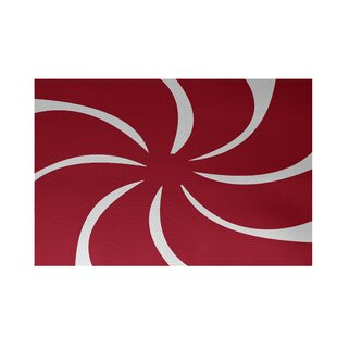 Decorative Holiday Geometric Print Red Indoor Outdoor Area Rug