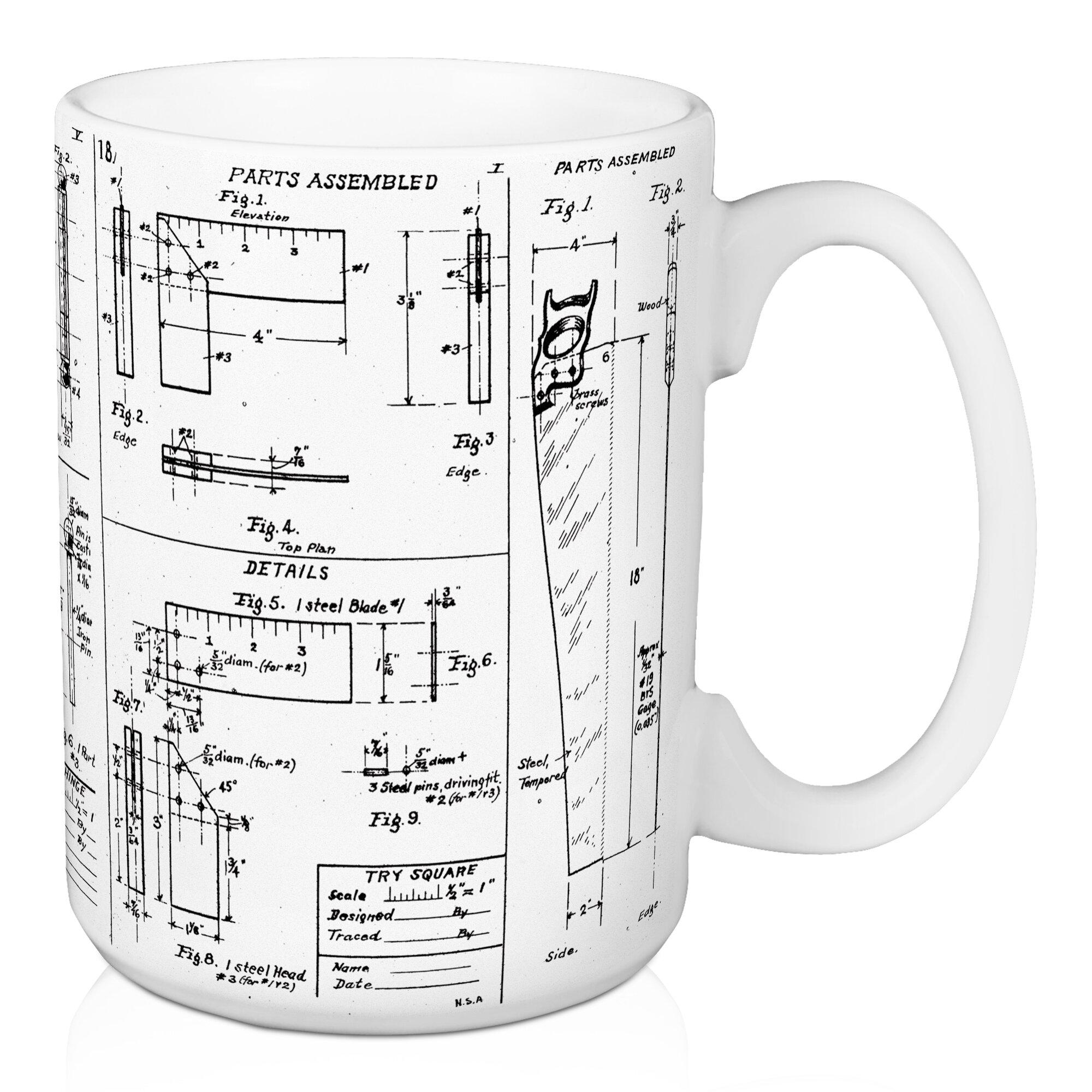 Williston forge mcduffy blueprint coffee mug wayfair malvernweather Images