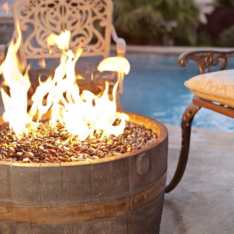 Cement Wine Barrel Fire Pit - ETCO Cement Wine Barrel Fire Pit & Reviews Wayfair