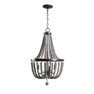 Chandeliers joss main louis wood bead 3 light empire chandelier aloadofball Choice Image