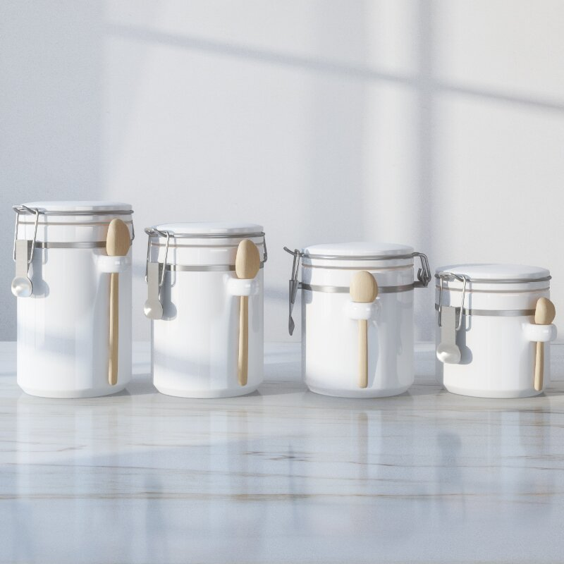 canisters for the kitchen wayfair basics wayfair basics 4 piece ceramic kitchen