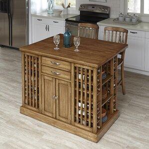 The Vintner 3 Piece Kitchen Island Set by..