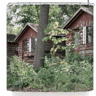 Jennifer Rizzo Rustic Cabins Single Shower Curtain