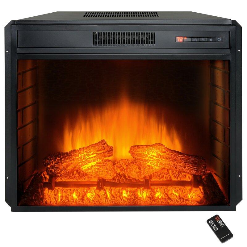 AKDY Wall Mount Electric Fireplace Insert & Reviews   Wayfair