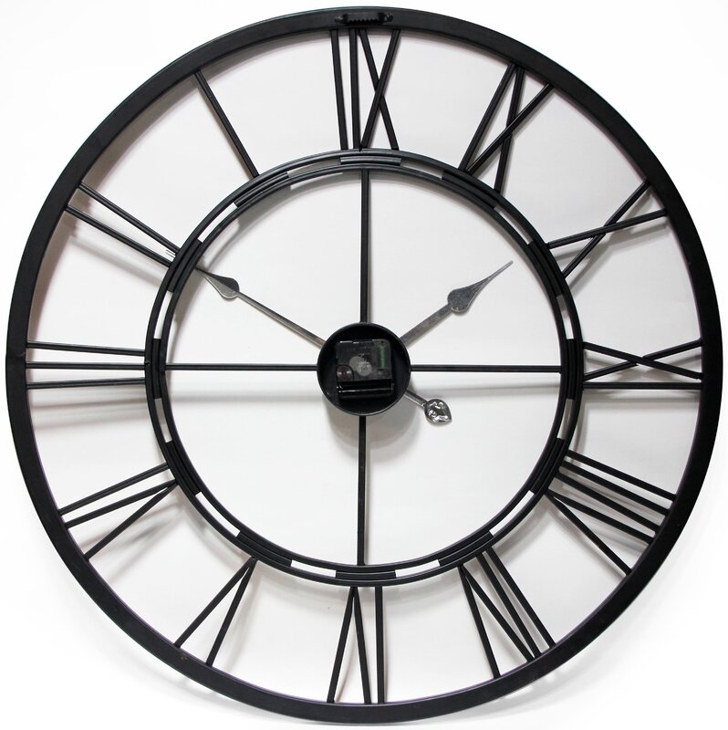 August Grove Drew Oversized Metal Wall Clock Amp Reviews