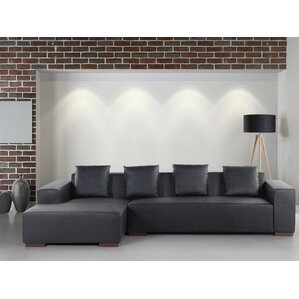 Tamika Leather Sectional by Orren Ellis