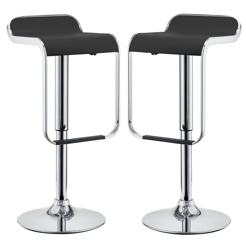Wilton Adjustable Height Swivel Bar Stool Allmodern