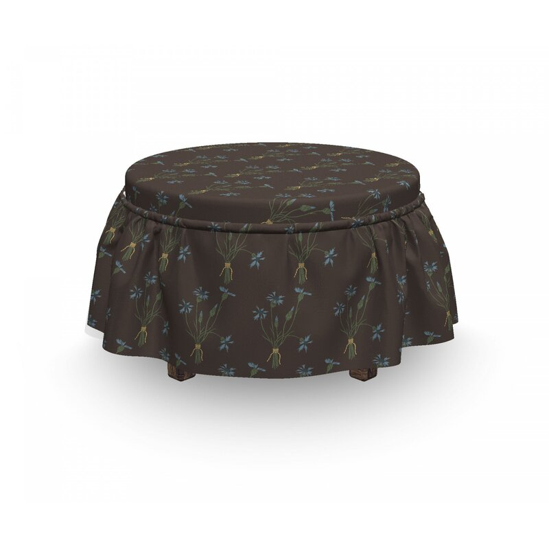 East Urban Home Ambesonne Spring Ottoman Cover Vintage