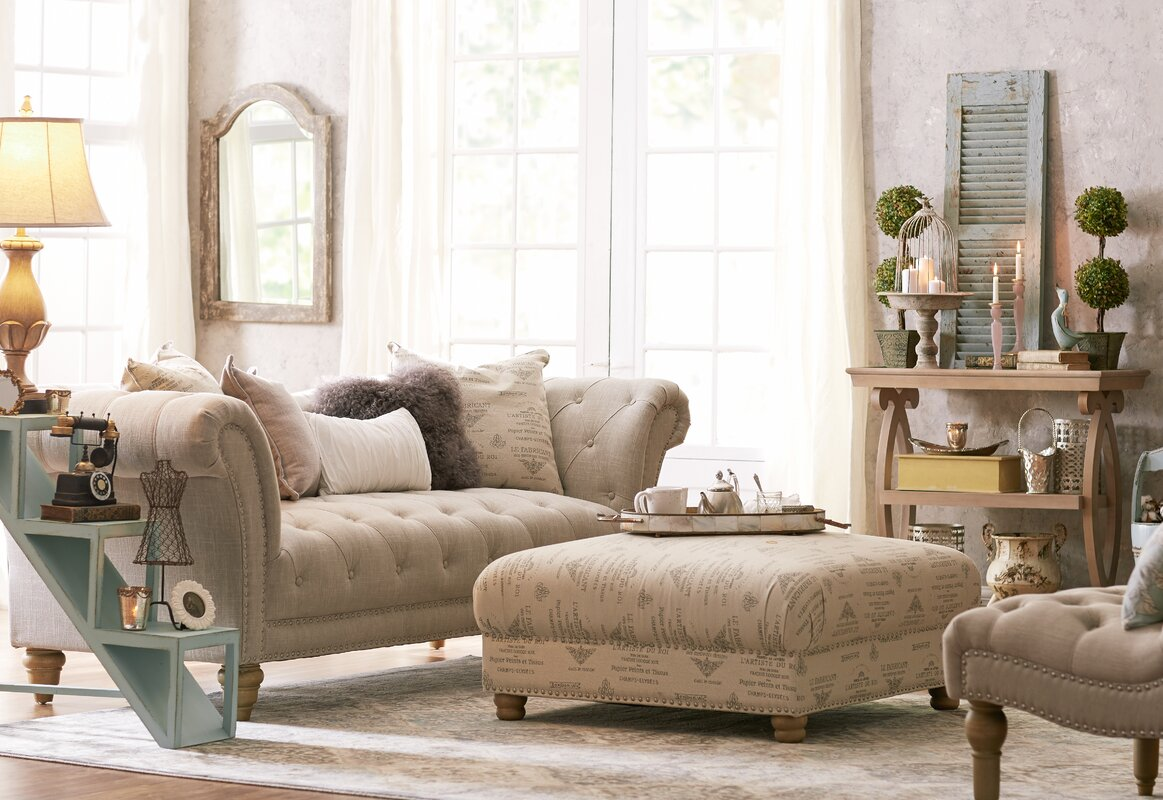 Versailles chesterfield sofa reviews birch lane Bedroom furniture chesterfield
