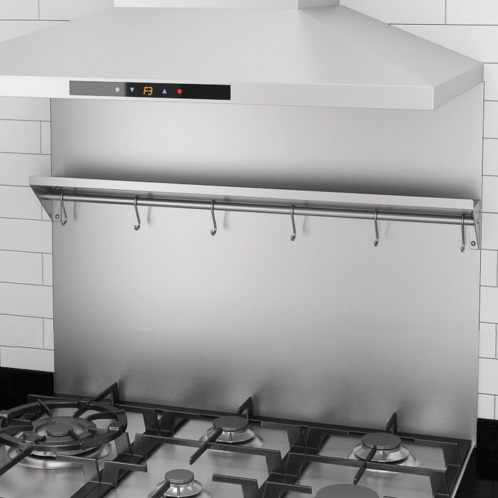 Fabulous Backsplash Stainless Steel Wall Mounted Pot Rack Download Free Architecture Designs Intelgarnamadebymaigaardcom