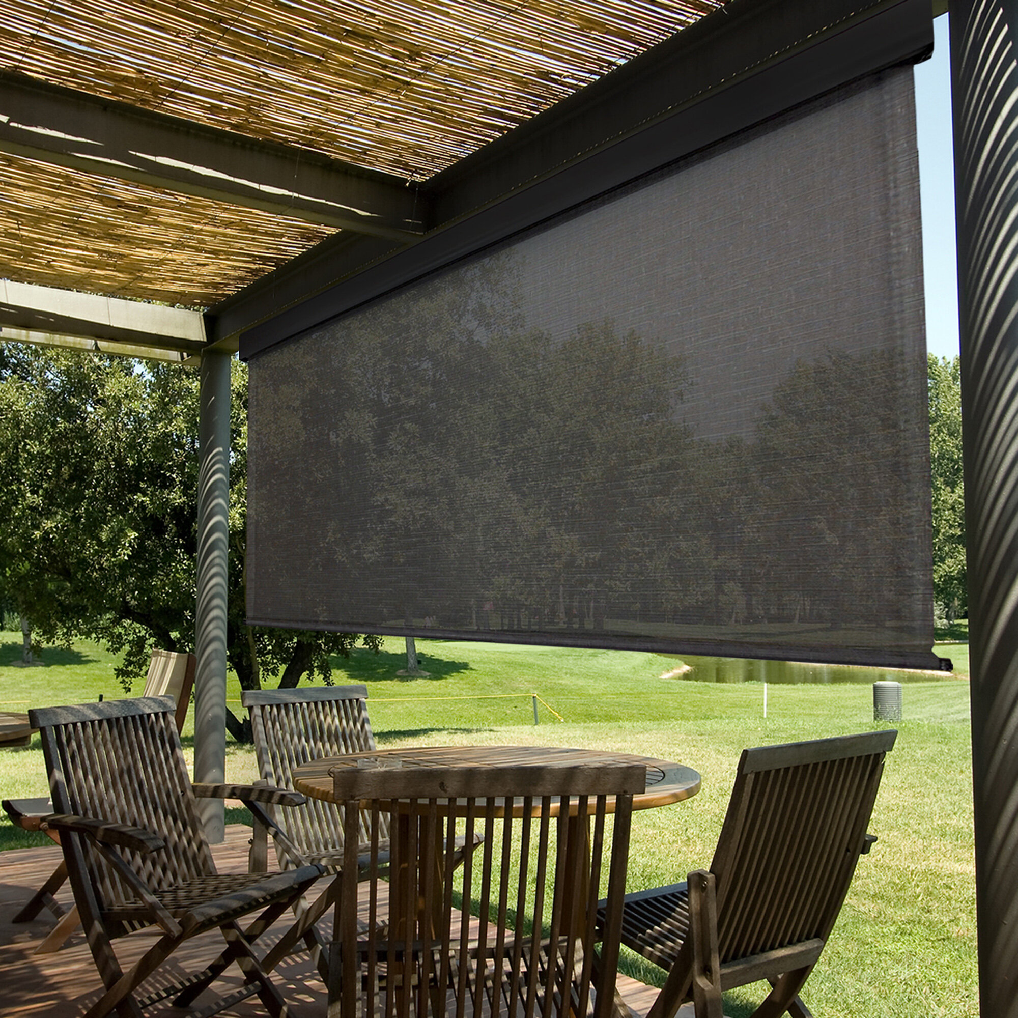 Keystone Fabrics Heavy Duty Semi Sheer Outdoor Roller Shade Reviews Wayfair