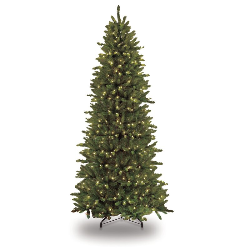Pre-lit Slim Fraser 4.5' Fir Artificial Christmas Tree with 150 Clear  Lights with - The Holiday Aisle Pre-lit Slim Fraser 4.5' Fir Artificial Christmas