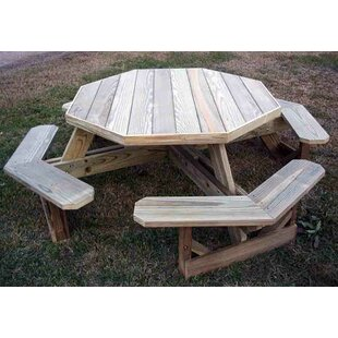Picnic tables youll love wayfair arturo wooden picnic table watchthetrailerfo