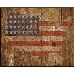 U0027American Flagu0027 Framed Graphic Art
