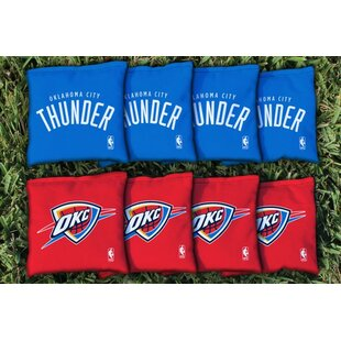Oklahoma city thunder youll love wayfair nba replacement all weather cornhole bag set prinsesfo Images