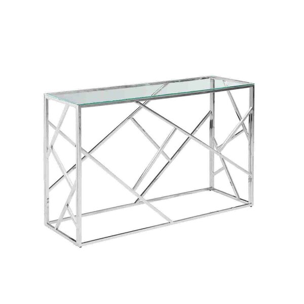 Sagebrook Home Stainless Steel And Glass Console Table U0026 Reviews | Wayfair