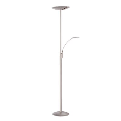 Pewter Amp Silver Torchiere Floor Lamps You Ll Love Wayfair