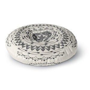 Famenxt Boho Tribe Mandala Round Floor Pillow