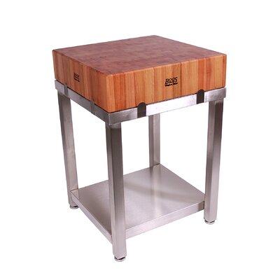 John Boos Cucina Americana Kitchen Cart with Butcher Block Top ...