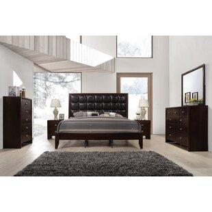 Gloria Platform 6 Piece Bedroom Set. By Roundhill Furniture