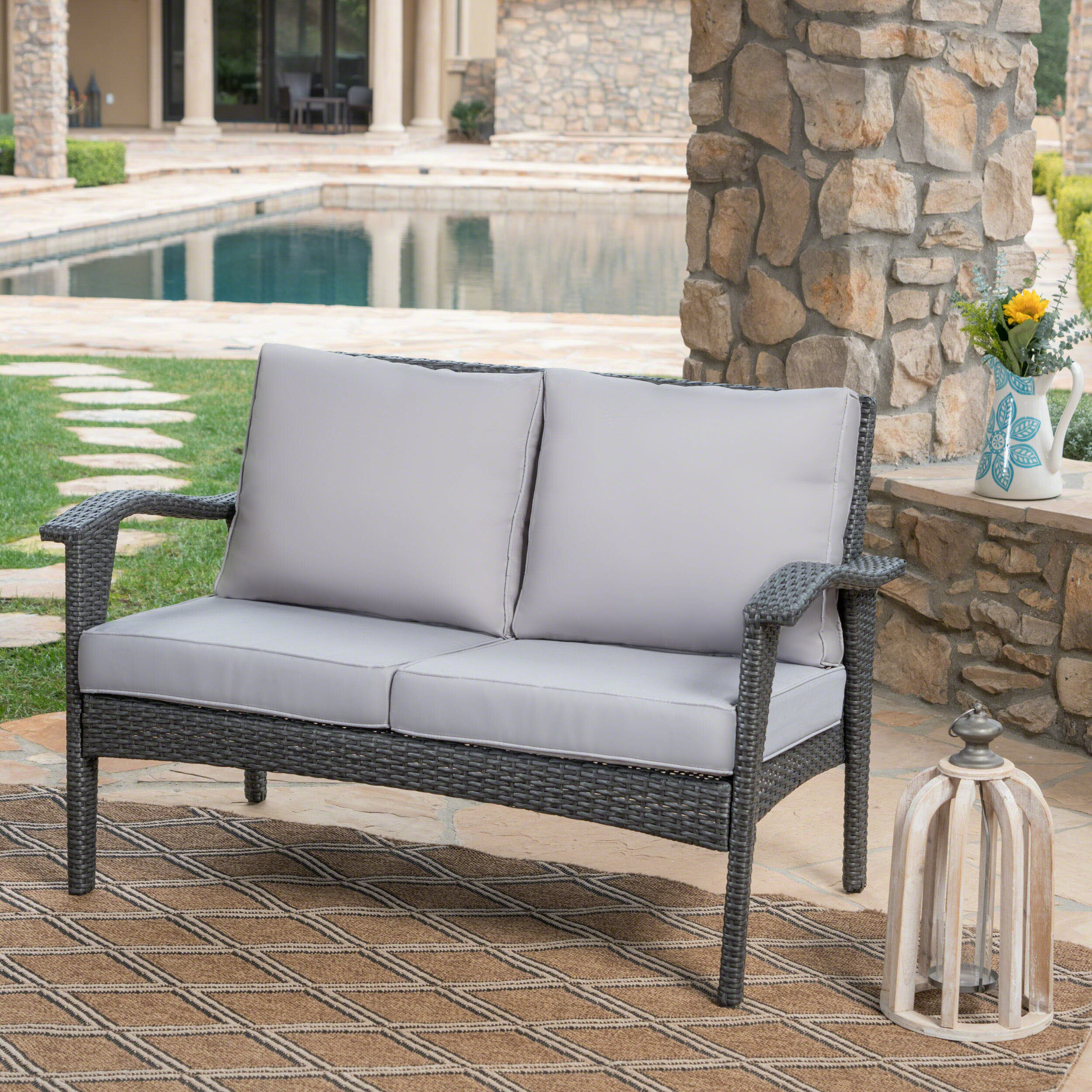 decoration about loveseat remodel patio cushions home with planner canada rustic
