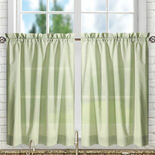 Olive Green Kitchen Curtains | Wayfair