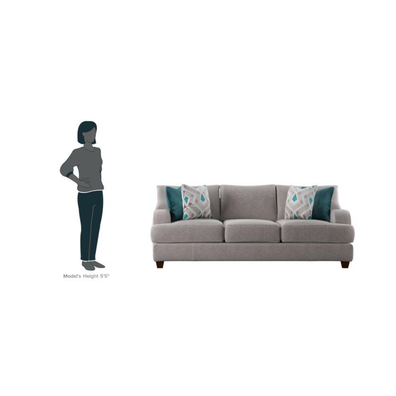 Sofa Height laurel foundry modern farmhouse rosalie sofa & reviews | wayfair