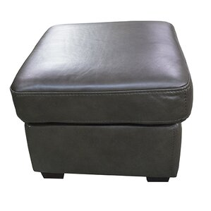 Denver Leather Ottoman by Coja