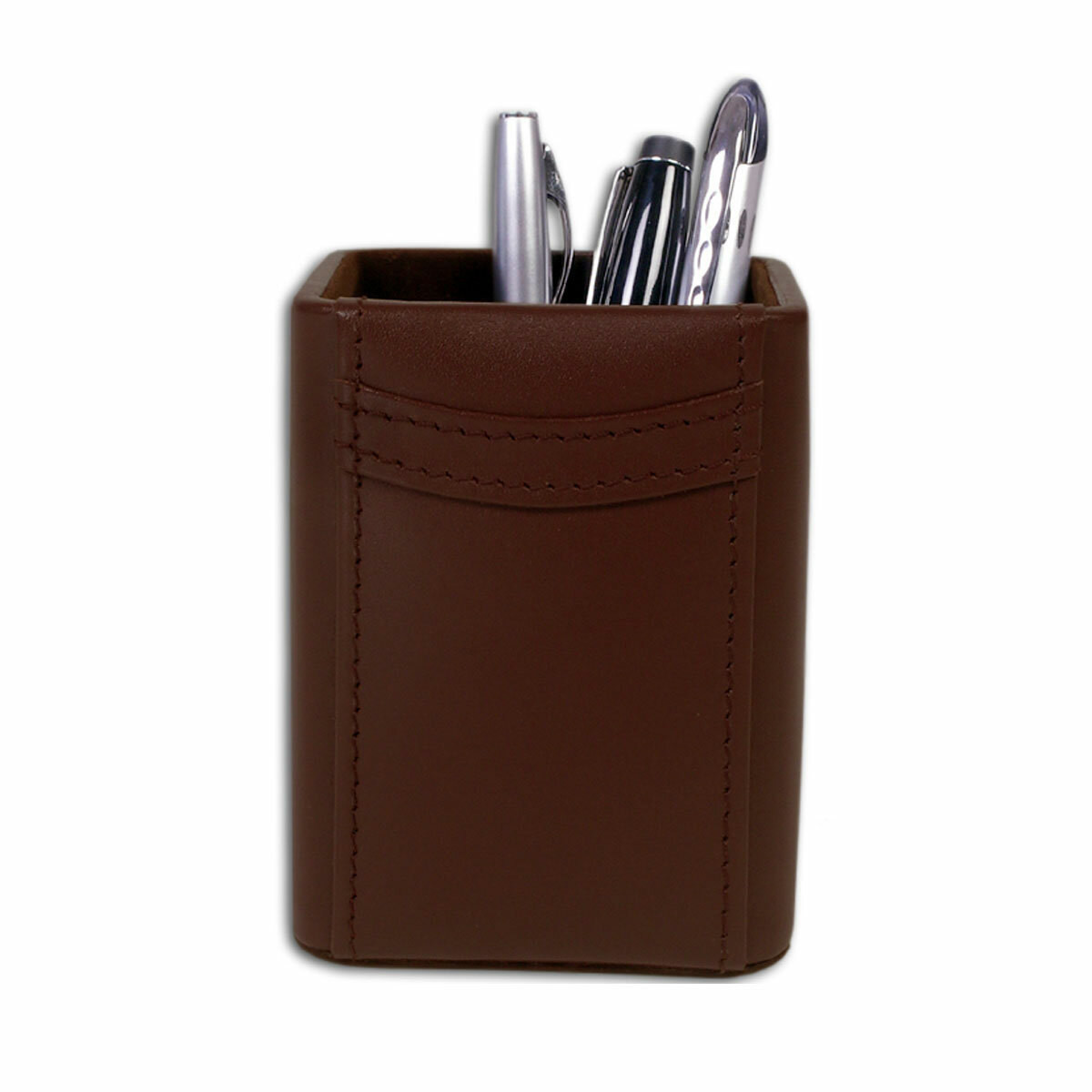 d1f8ef0368 Dacasso 1000 Series Classic Leather Pencil Cup in Chocolate Brown | Wayfair