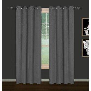 Heyworth Foulard Ikat Blackout Curtain Panels (Set of 2)