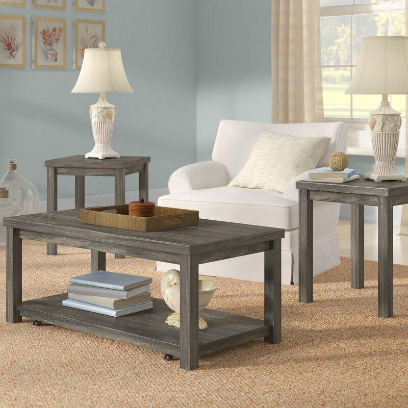Rosecliff Heights Nashua 3 Piece Coffee Table Set & Reviews | Wayfair