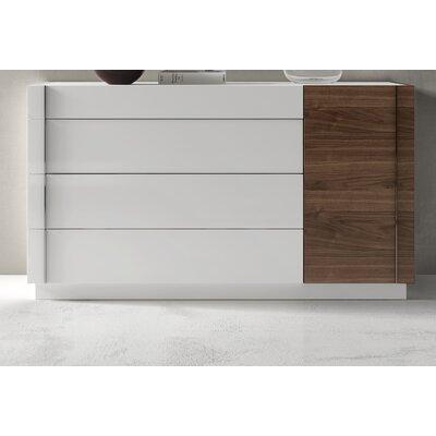 Brayden Studio Cretys 4 Drawer Dresser