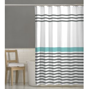teal striped shower curtain. Prastio Simple Stripe Shower Curtain Modern Striped Curtains  AllModern