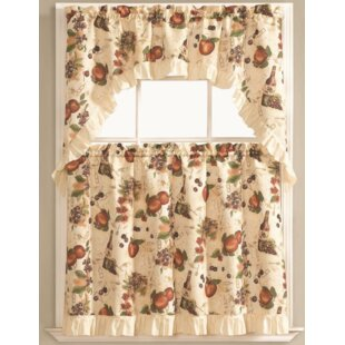 Merveilleux Bouzy Fruit Orchard Kitchen Curtain Set (Set Of 3)