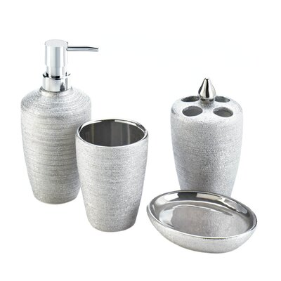 joshana 4 piece shimmer bathroom accessory set - Bathroom Accessories Vancouver