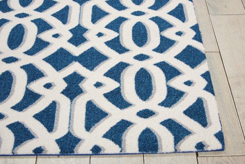 mercury row tabris navy white area rug reviews wayfair. Black Bedroom Furniture Sets. Home Design Ideas