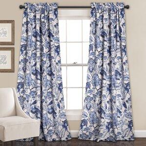 Deerpark Nature/Floral Room Darkening Rod Pocket Curtain Panels (Set Of 2)