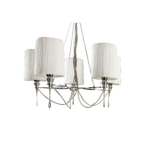 Lucca 5-Light Shaded Chandelier by Mantra