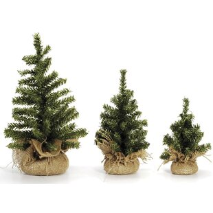mini canadian green pine artificial christmas tree with burlap base 32 tips - Mini Real Christmas Tree