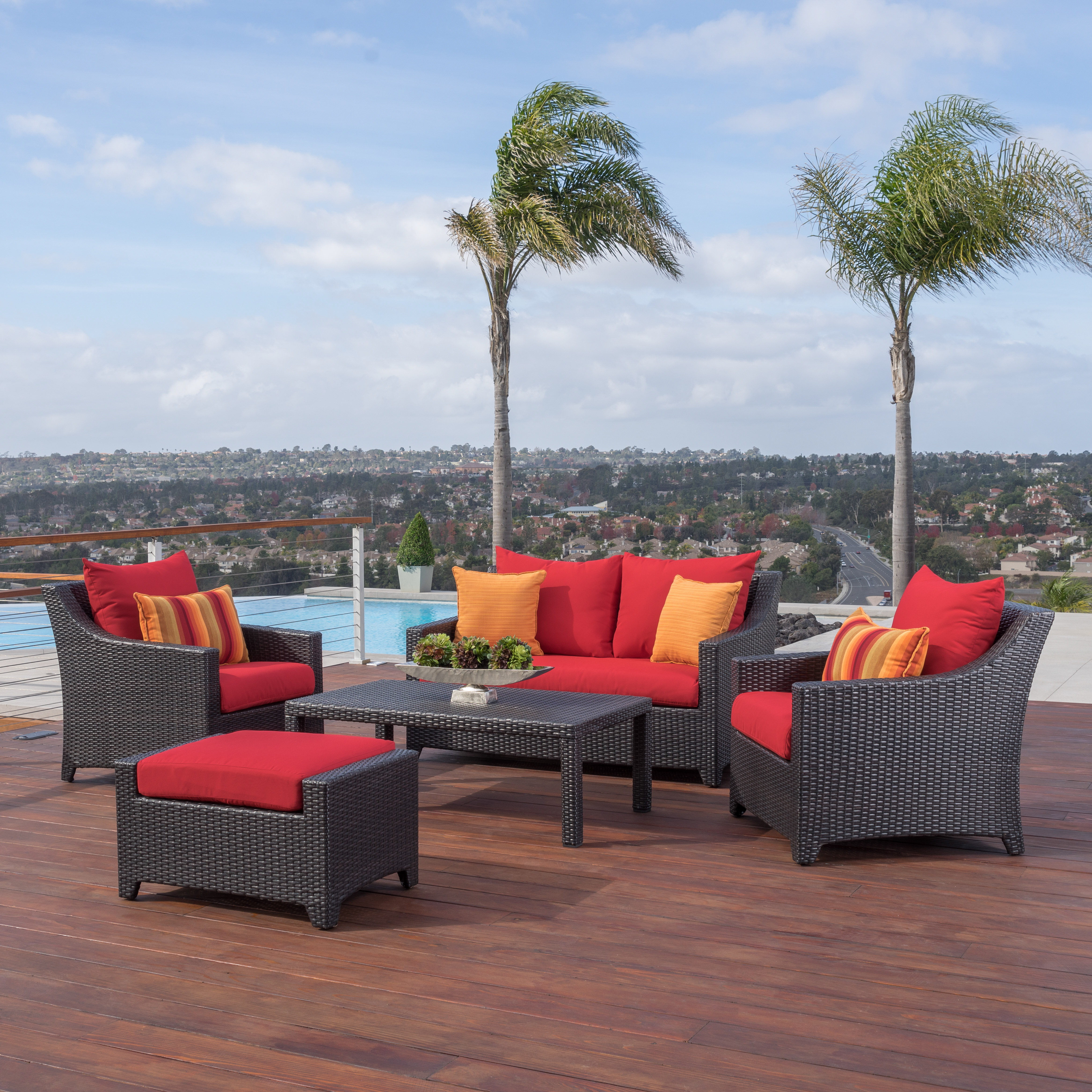 Three Posts Northridge 5 Piece Sunbrella Sofa Set With Cushions | Wayfair