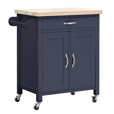 August Grove Philomene Kitchen Cart