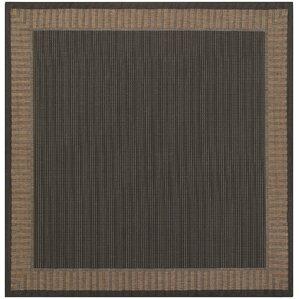Westlund Black Wicker Stitch Indoor/Outdoor Rug