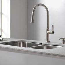 Kitchen Combos 32 X 20 63 Double Basin Undermount Kitchen Sink With Faucet