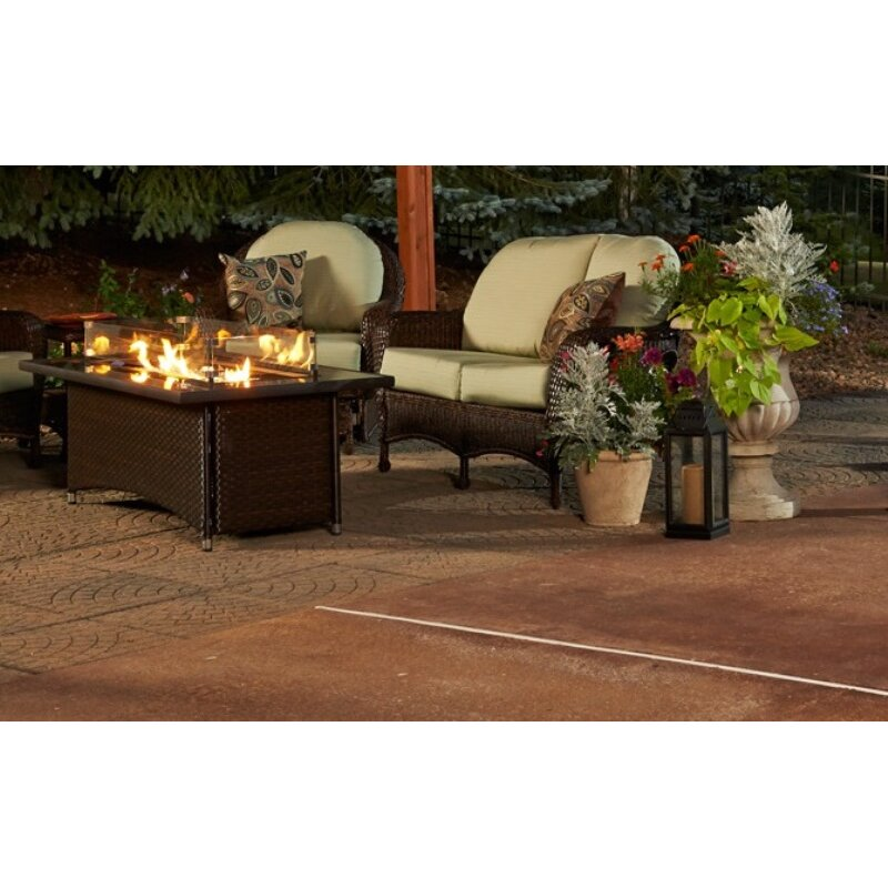 Outdoor Coffee Table Heater: The Outdoor GreatRoom Company Montego Crystal Fire Pit